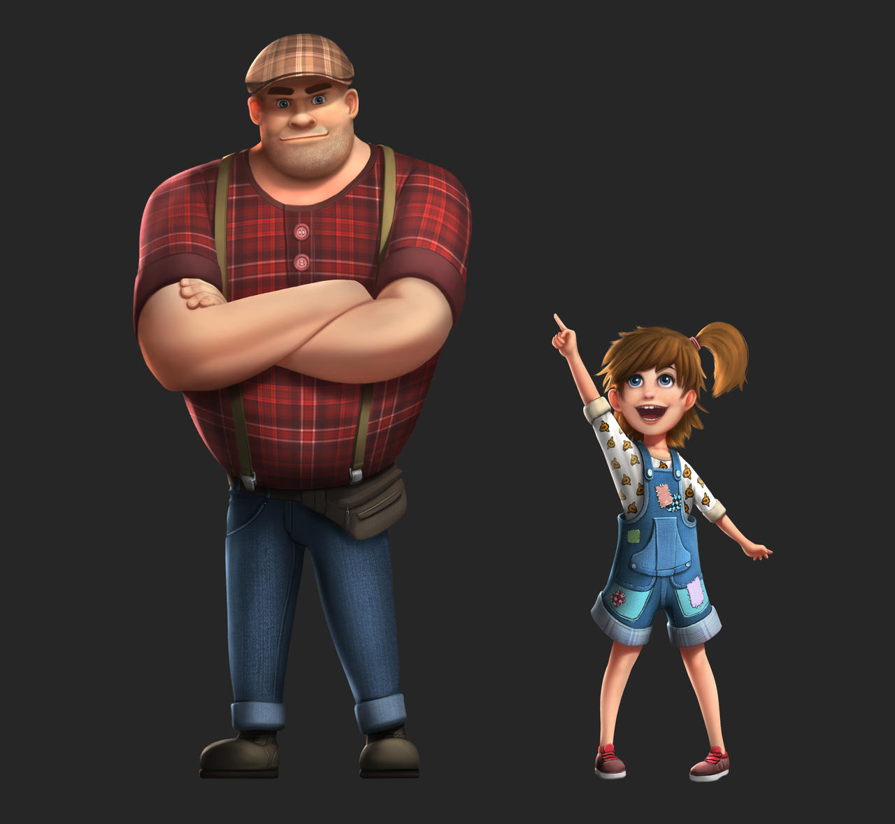 Big guy and a little girl concept by Samscrapbook on