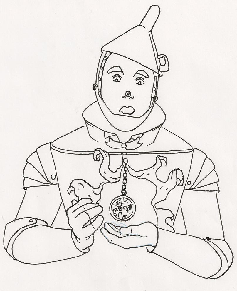 Tin Man Line Art By Thedanika On DeviantArt