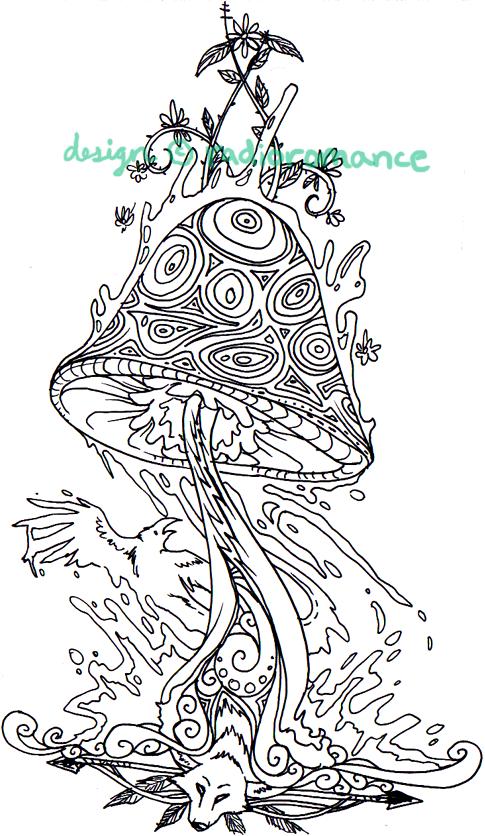 tattoo tribal  u0026 39 shroom by radioromance on deviantart
