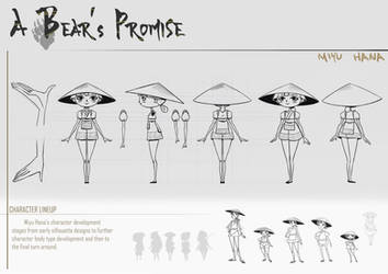 A Bear's Promise: Character Design Sheet 2 by AkiiRaii