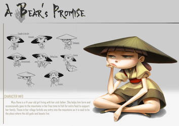 A Bear's Promise: Character Design Sheet 1 by AkiiRaii