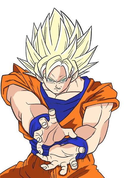 Coloring - Goku 3 by Ryoku15
