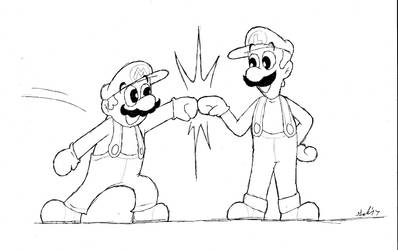 Super Mario Brofist! by DrFurball