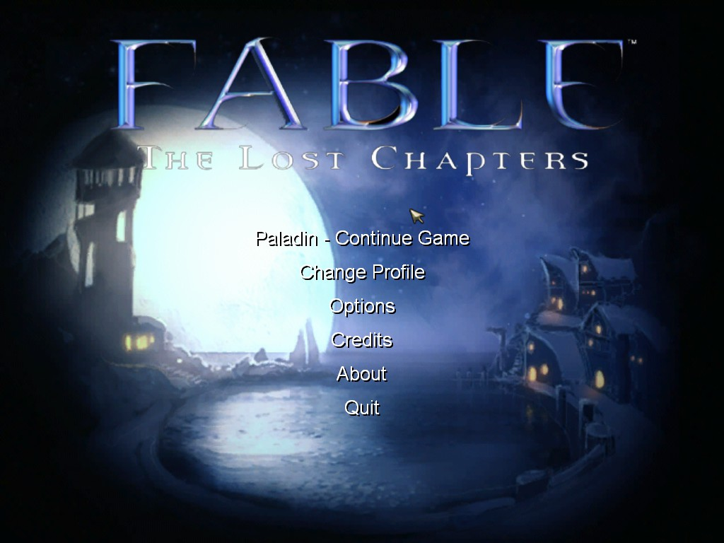 Fable The Lost Chapters Main Menu By Overlordavarice On Deviantart