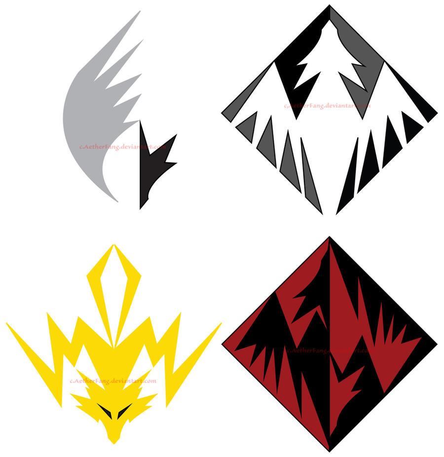 Elemental Dragon Logos by aetherfang