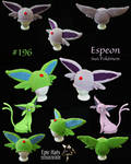 Knit Espeon-inspired Hats