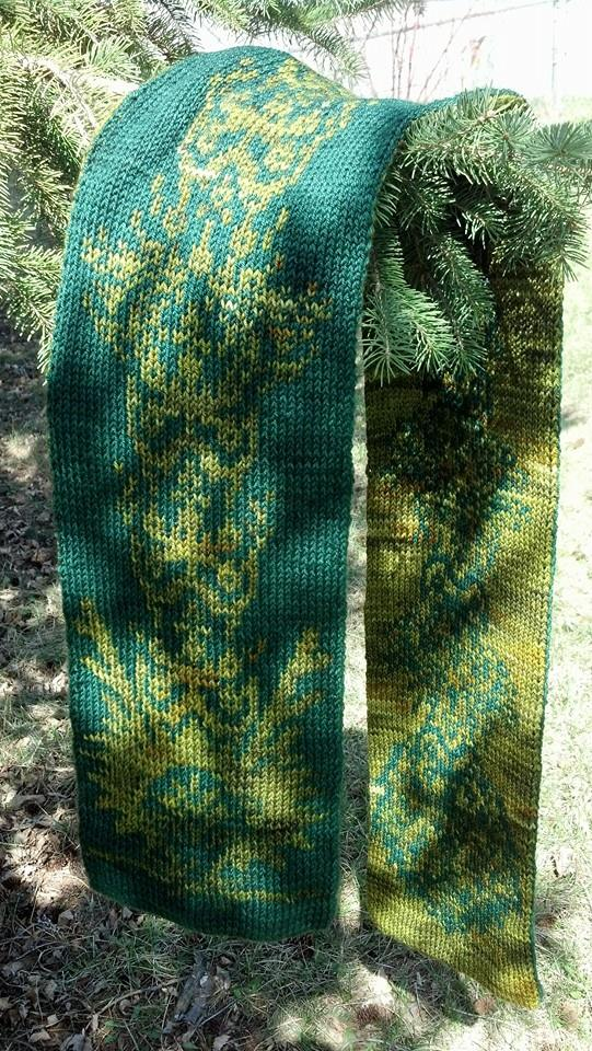 Totem Dragon Scarf by aetherfang