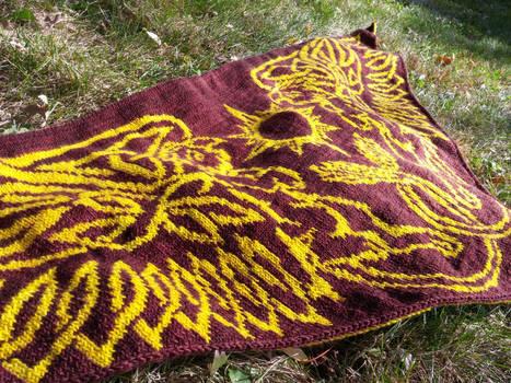 Celtic Sun Gryphons shawl