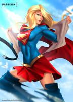 Supergirl optional NSFW on Patreon by evandromenezes