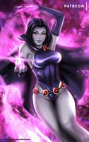 Raven - optional NSFW on Patreon by evandromenezes