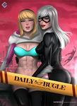 Spider Gwen x Black Cat  - NSFW version on Patreon by evandromenezes