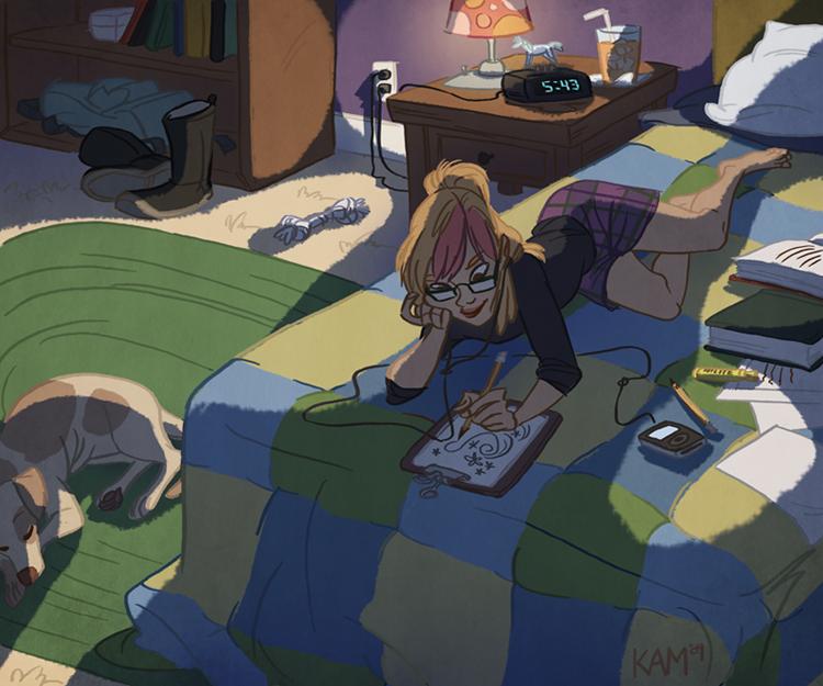 homework by taffygiraffe