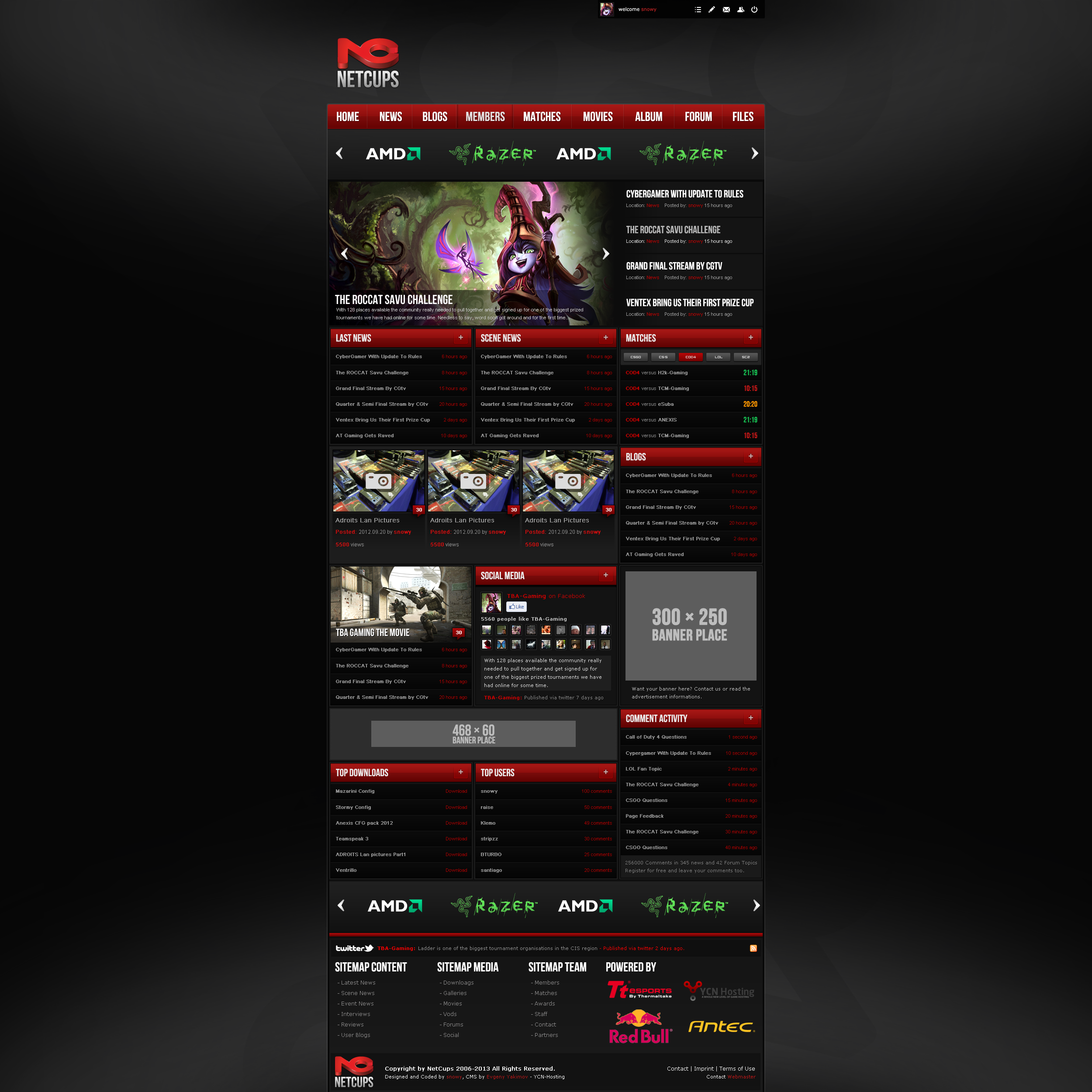 NetCups Website by snowy1337