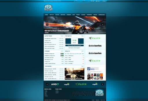 Mydesire-Esports Webdesign by snowy1337