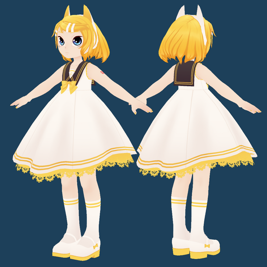 [WIP2] Cat Kagamine Rin by Kanahiko-chan