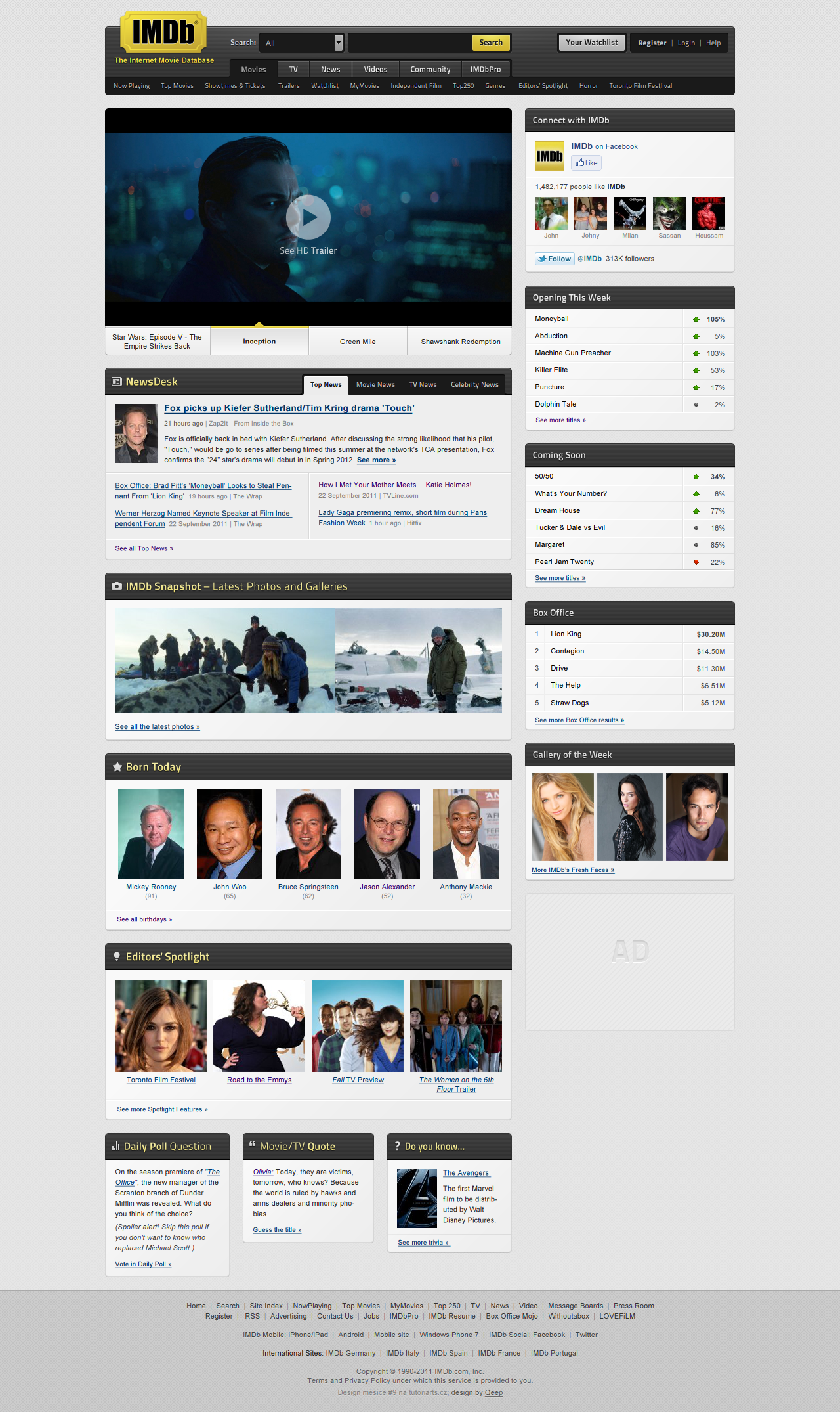 IMDb redesign by Qeep
