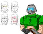 More Doomguy Sketches