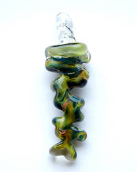 Green Sea Zig Zag Pendant by bahgee