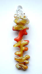 Yellow Fishbone Pendant by bahgee