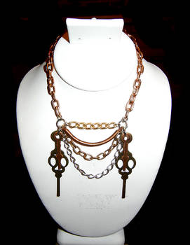 Double Clock Hands necklace