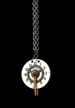 Compass Clock Pendant