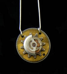 Hidden Gears Necklace by bahgee