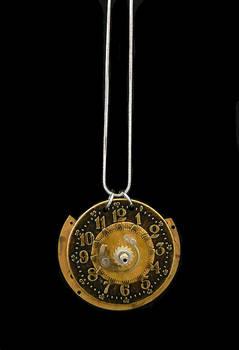 Gold Clock Pendant