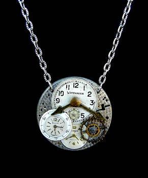 Clock Collage Pendant
