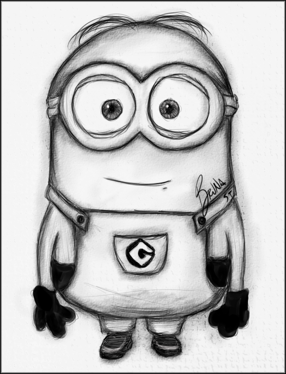 drawings of minions   Minion - Freehand Drawing by ZackBag ...  Easy Minion Pencil Drawings