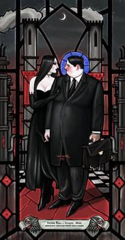 CXCVI. Herr Oktan, mistress Erdol (stained glass)