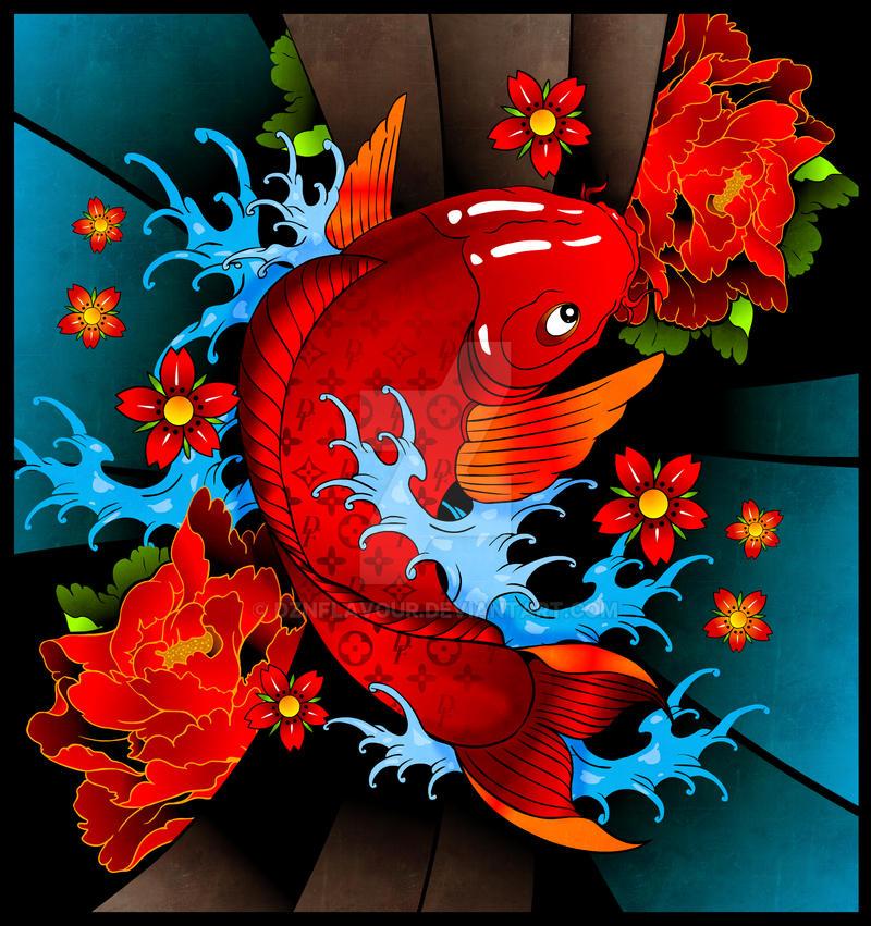 Fake koi by dznflavour on deviantart for Fake koi fish