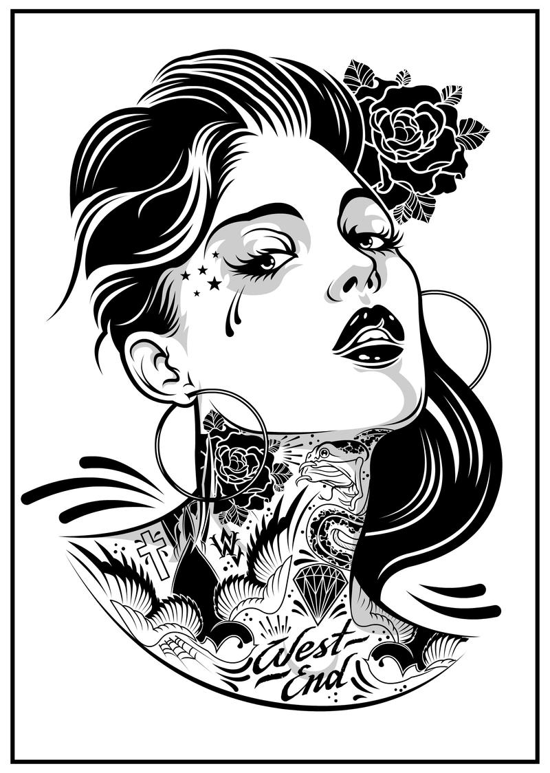 Chick On Ink by DZNFlavour