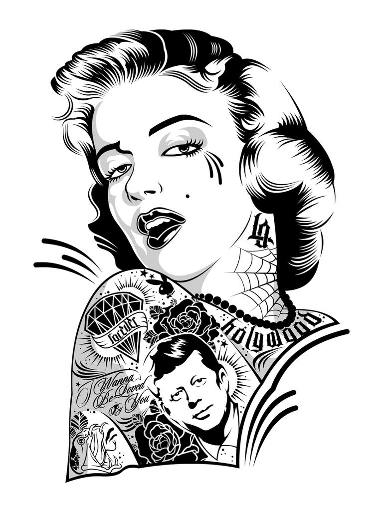 Marylin on Ink by DZNFlavour on DeviantArt