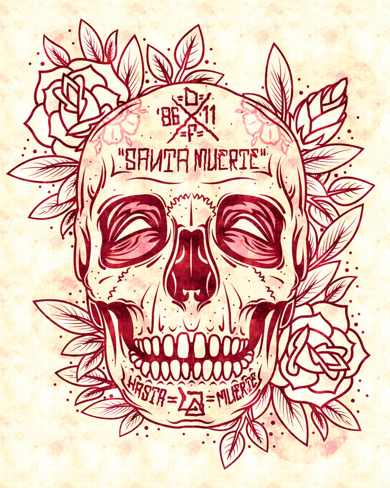 santa muerte skull by dznflavour on deviantart. Black Bedroom Furniture Sets. Home Design Ideas