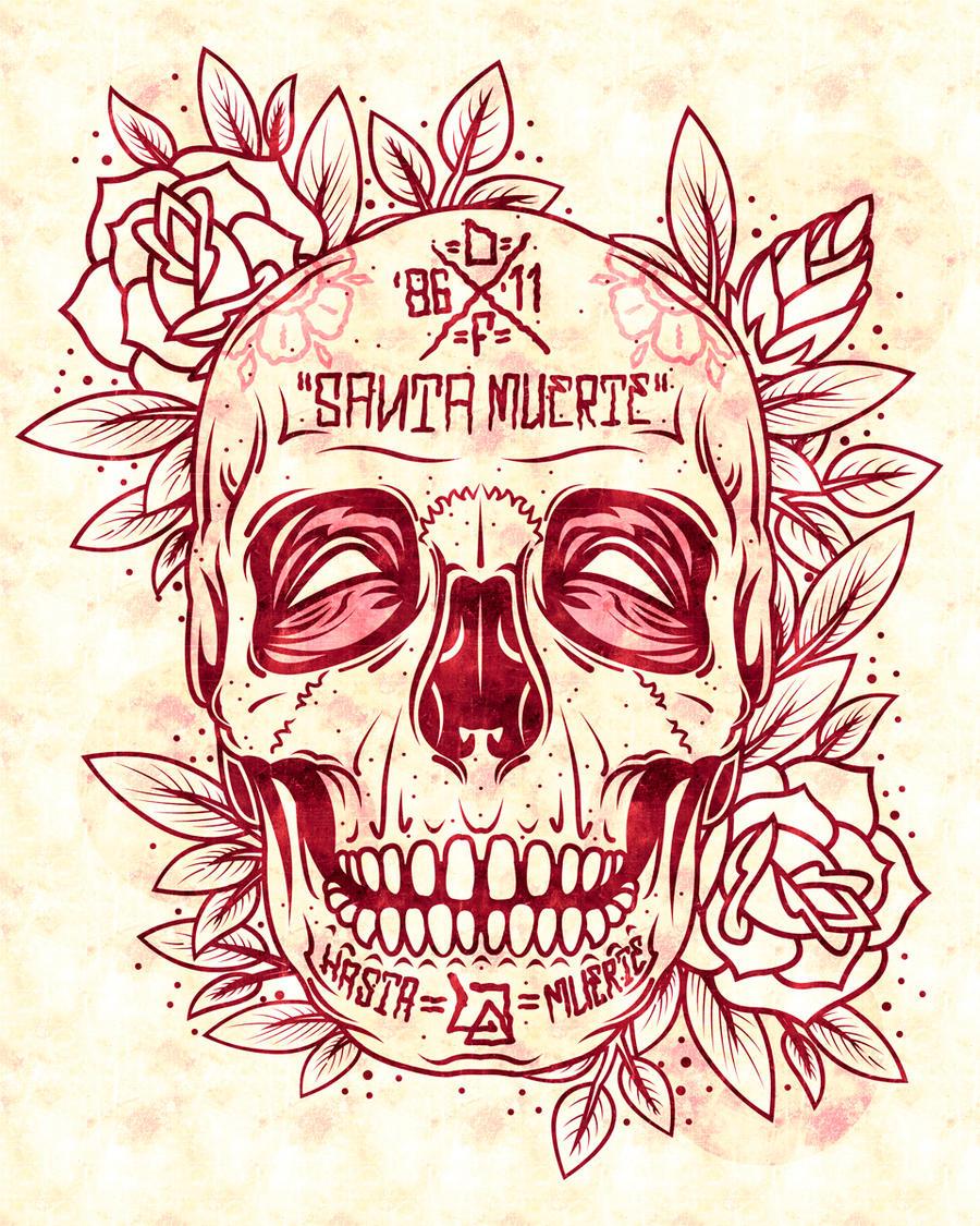 Santa Muerte Skull by DZNFlavour