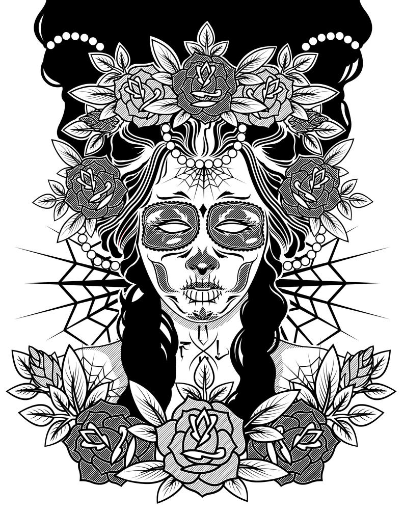 Day of the Dead Girl Drawings