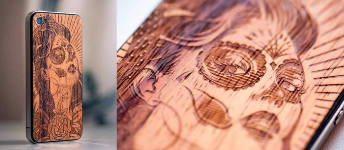 iPhone Wood Tattoo