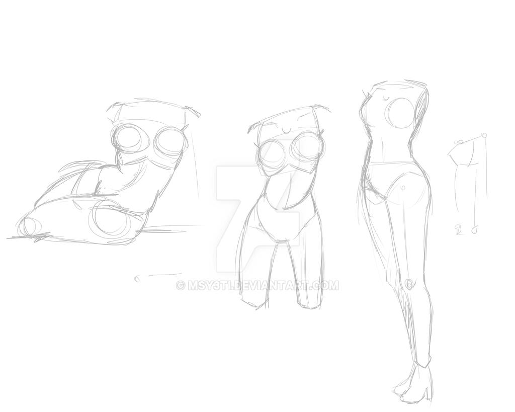 Female anatomy practice by MsY3ti on DeviantArt