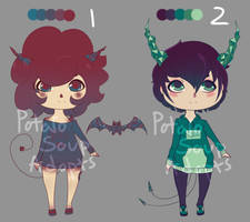 Crystal Demon Adopts (OPEN) by d-o-t-c-a-t