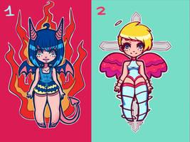 Demon + Angel Auction (OPEN) by d-o-t-c-a-t