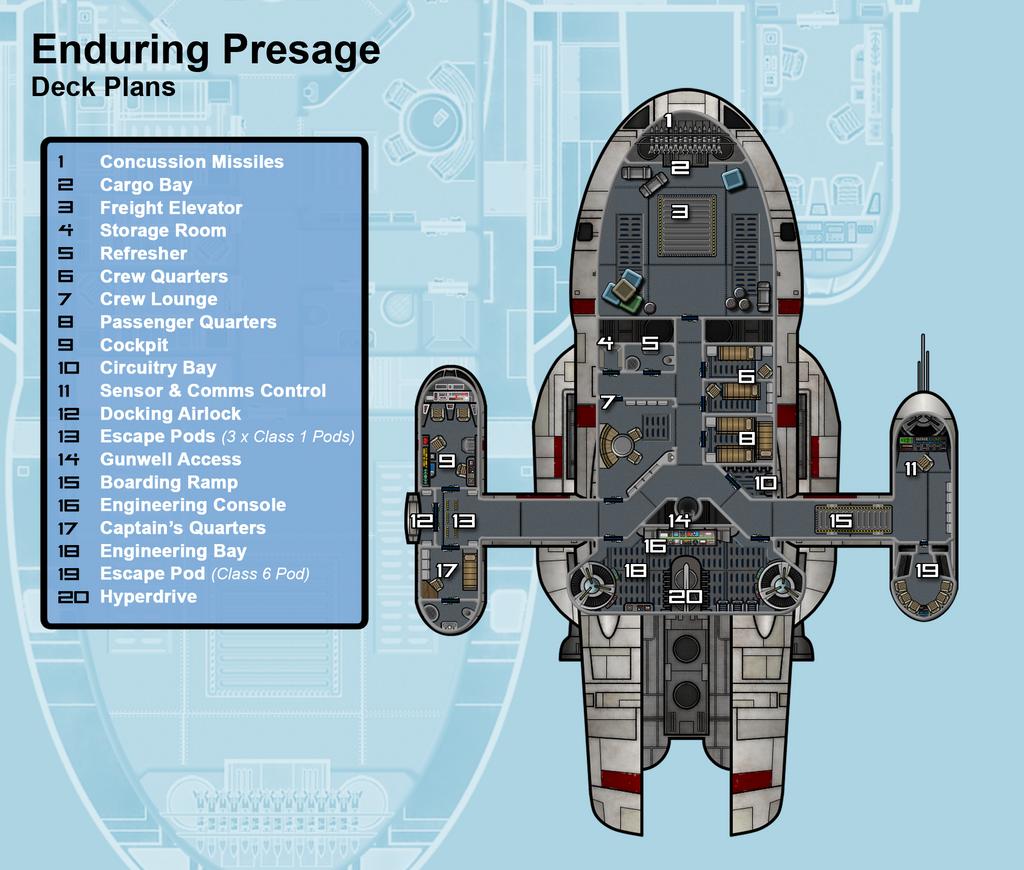 Star Wars Ship Floor Plans Part - 28: ... Enduring Presage Deck Plan By JediDave-142