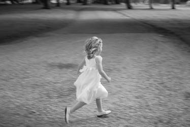 Little girl running 2