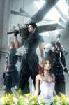 Final Fantasy gang with aeris