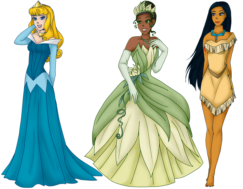Disney Princess Batch 5 Aurora Tiana And Poca By Setsuna Yena