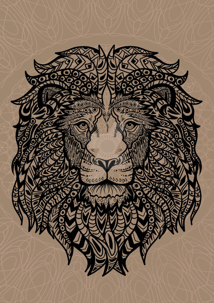 Mandala Art - Lion