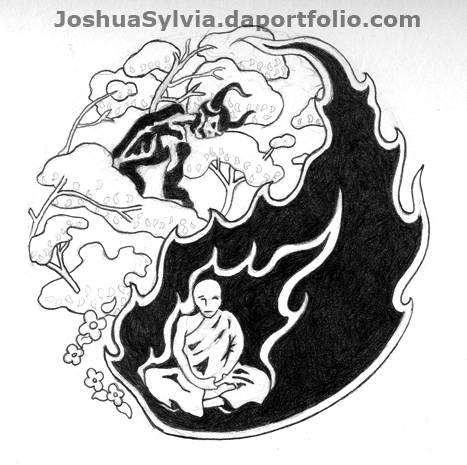 Yin-Yang tattoo design by ~thegreymirror on deviantART