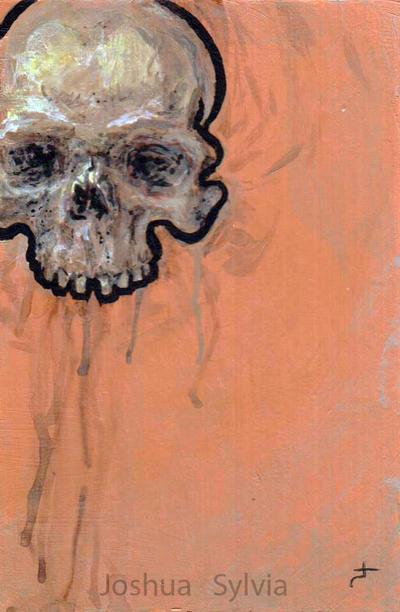 Skull Splat by thegreymirror