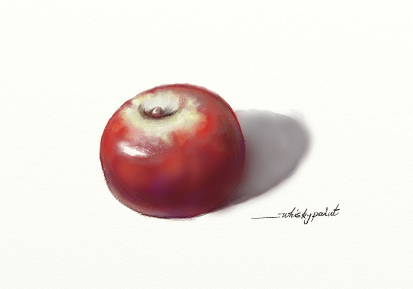 Apple by whiskypaint
