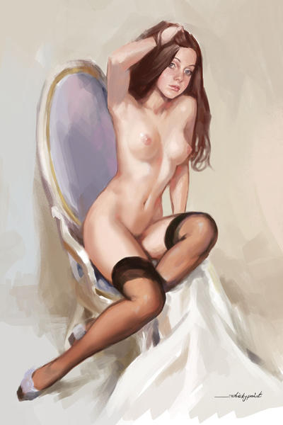 Commission. Pinup style by whiskypaint