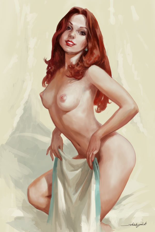 Commission. Pinup style. 2 by whiskypaint